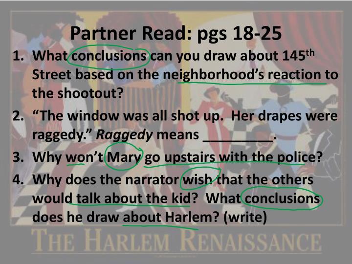 Partner Read: pgs 18-25