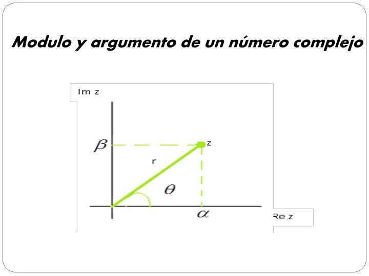 Modulo y argumento de un número complejo