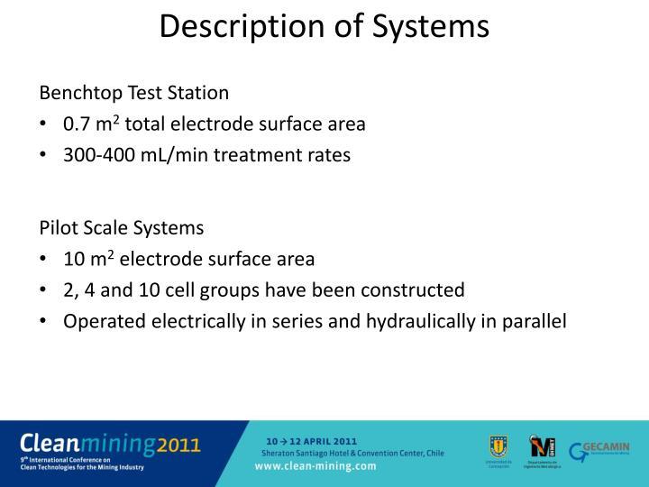 Description of Systems