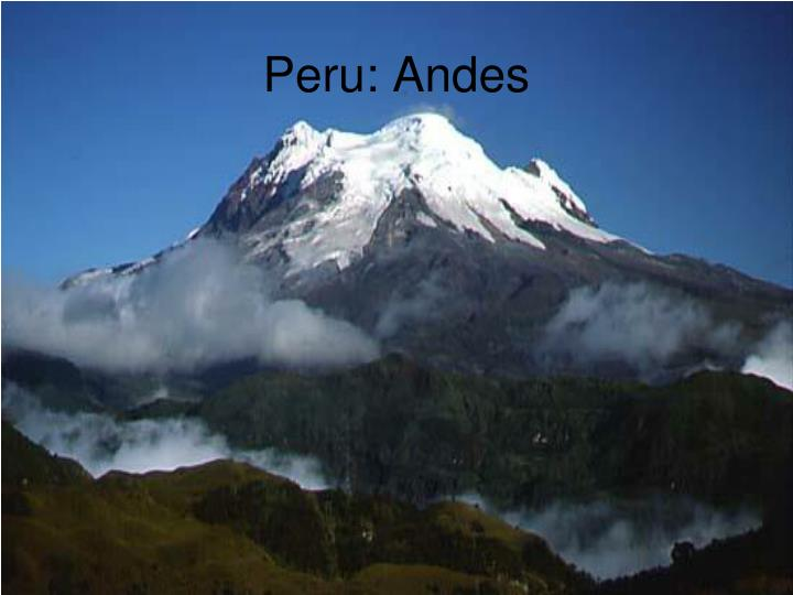 Peru: Andes