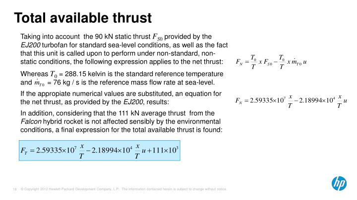 Total available thrust