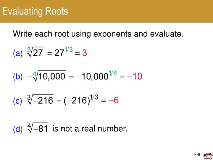 Evaluating Roots