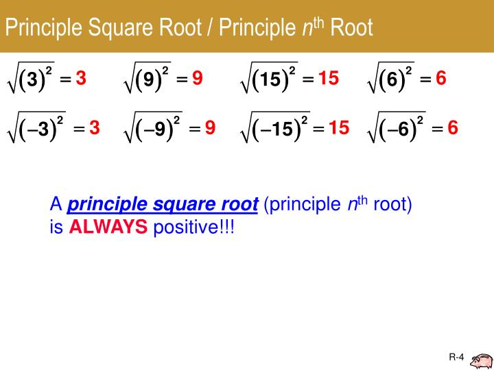 Principle Square Root / Principle
