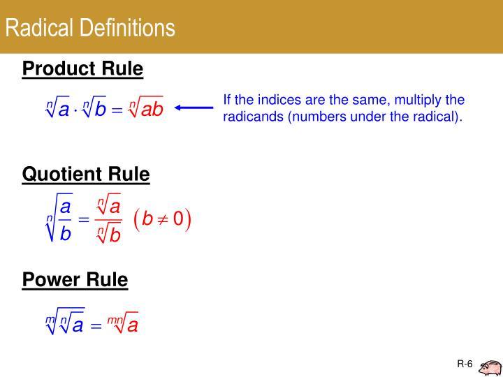 Radical Definitions