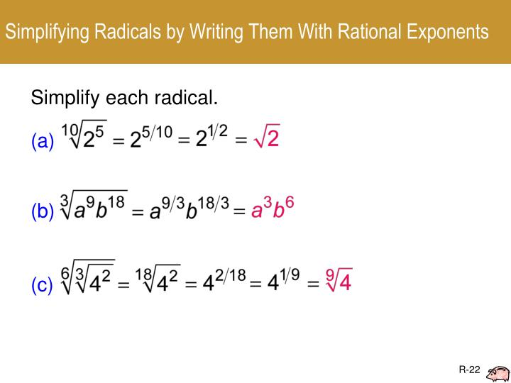 Simplifying Radicals by Writing Them With Rational Exponents