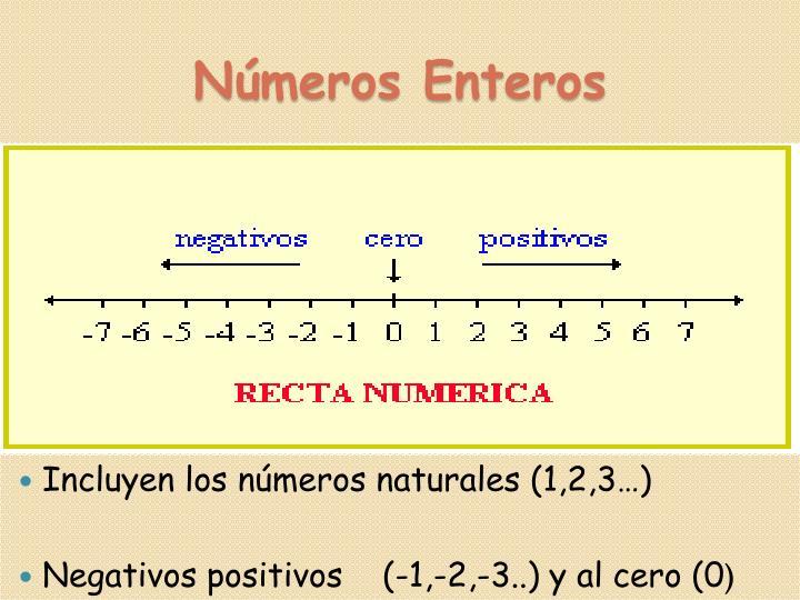 Incluyen los números naturales (1,2,3…)