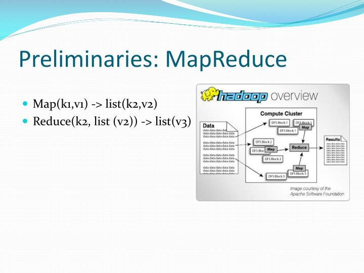 Preliminaries: MapReduce