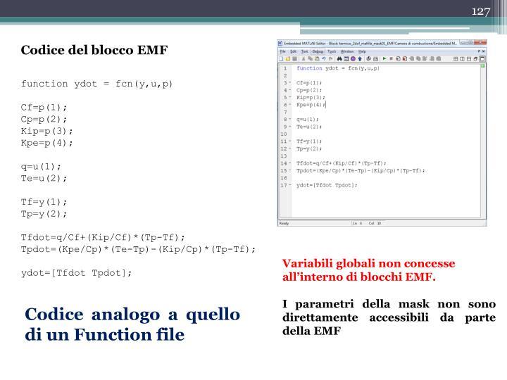 Codice del blocco EMF