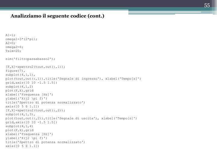 Analizziamo il seguente codice (