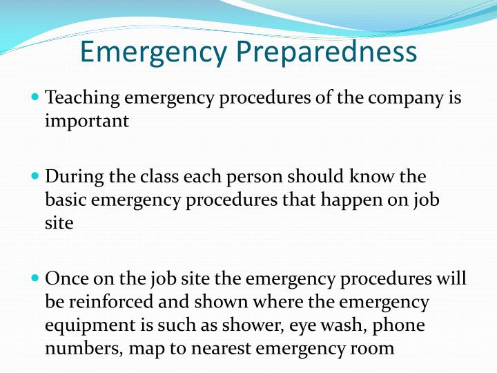Emergency Procedures Training For Students Faculty – Daily