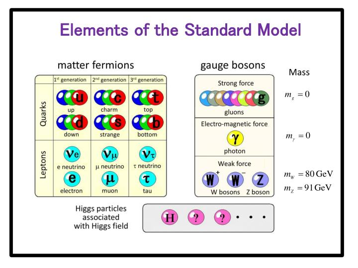 Elements of the Standard Model