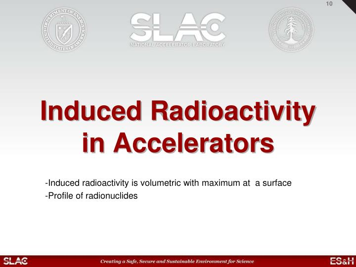 Induced Radioactivity in Accelerators