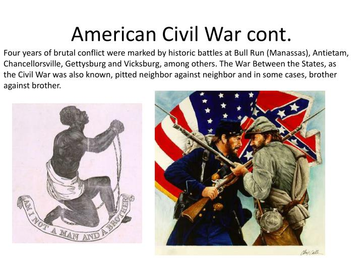 American Civil War cont.