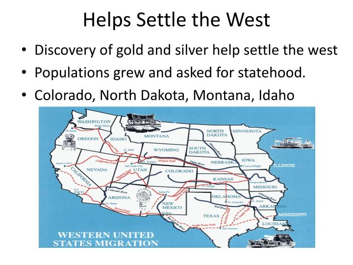 Helps Settle the West