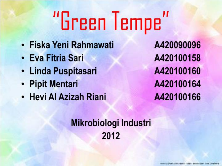 """Green Tempe"""