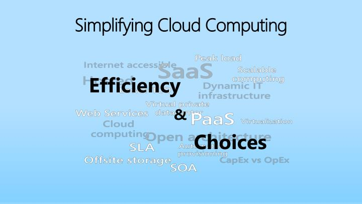 Simplifying cloud computing
