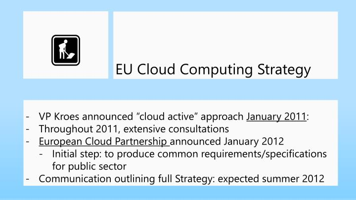 EU Cloud Computing Strategy