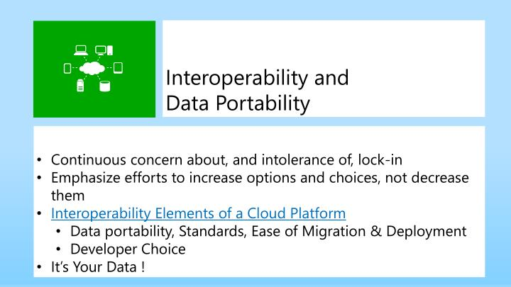 Interoperability and