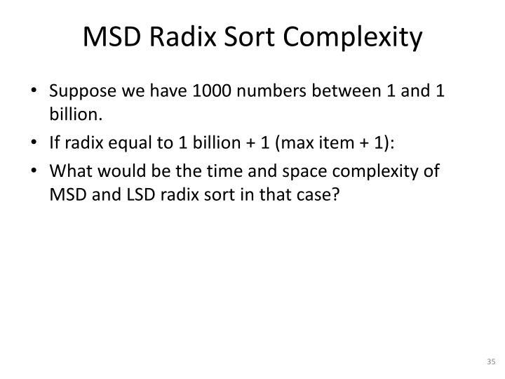 MSD Radix