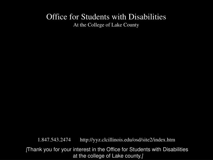 Office for Students with Disabilities