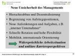neue unsicherheit des managements