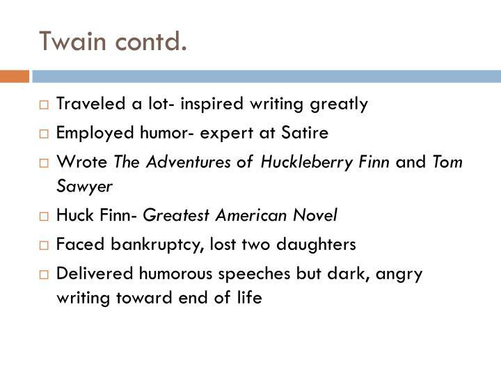 Twain contd.