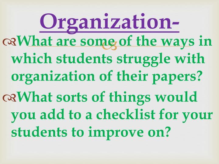 Organization-