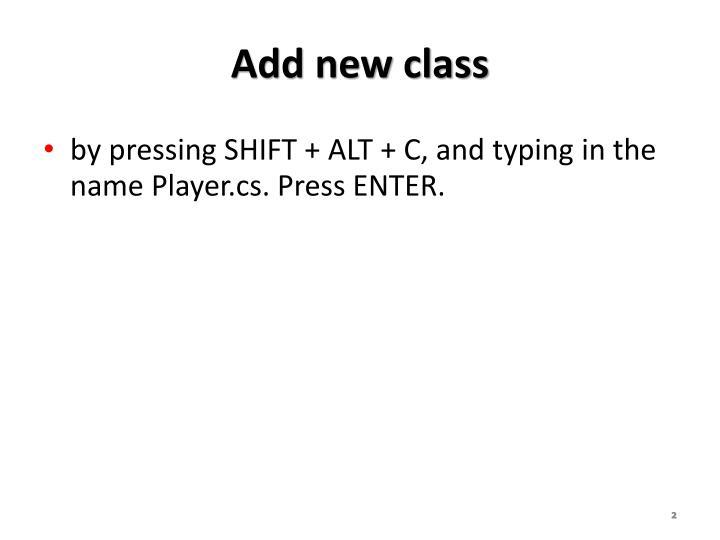 Add new class