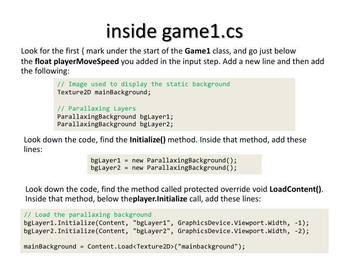 inside game1.cs