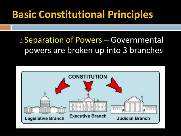 Basic Constitutional Principles