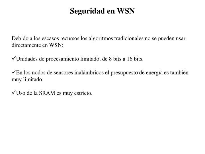 Seguridad en WSN