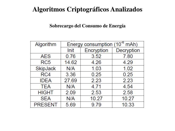Algoritmos Criptográficos Analizados