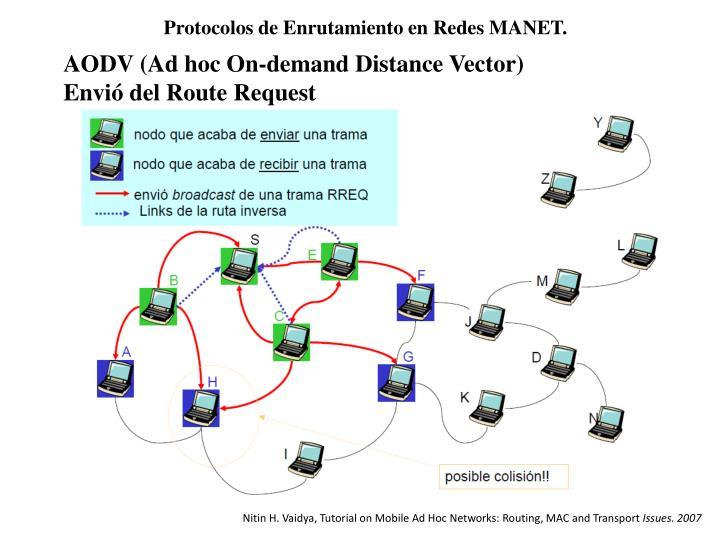 Protocolos de Enrutamiento en Redes MANET.