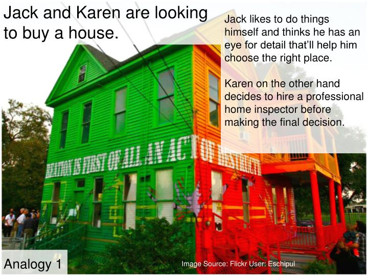 Jack and Karen are looking to buy a house.