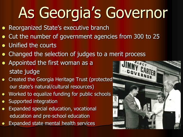 As Georgia's Governor