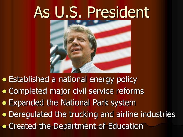 As U.S. President