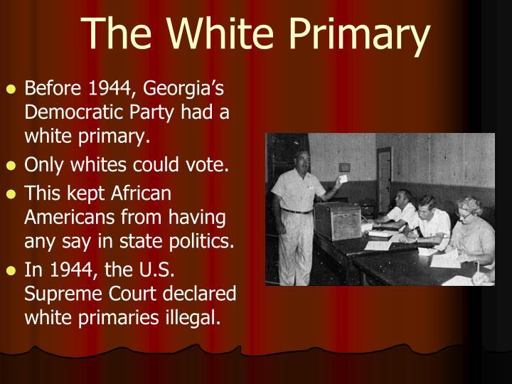 The White Primary