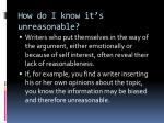 how do i know it s unreasonable