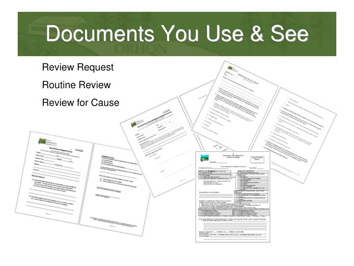 Documents You Use & See