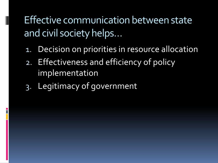 relationship between state civil society