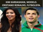 kim kardashian modelo cristiano ronaldo futbolista