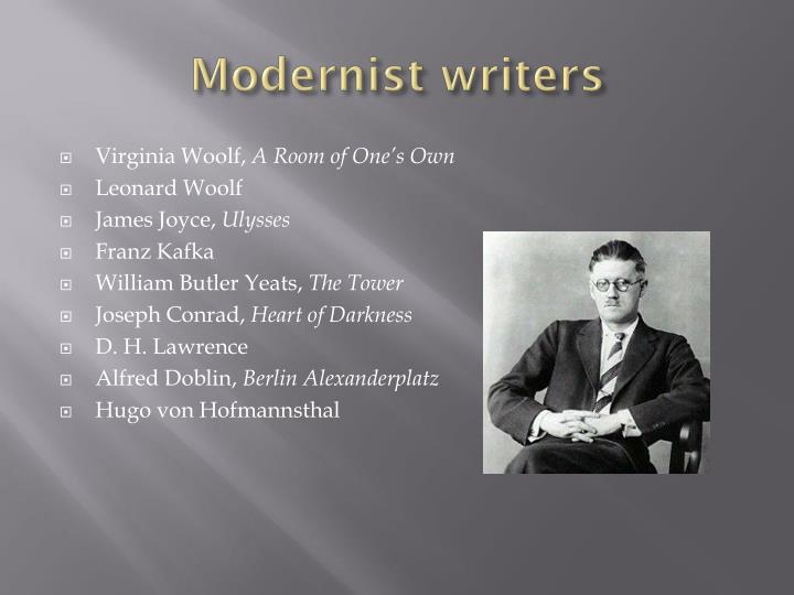 Modernist writers
