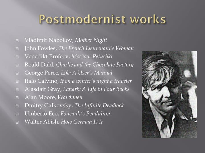 Postmodernist works