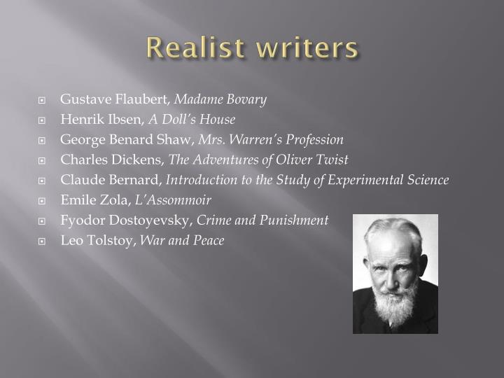 Realist writers