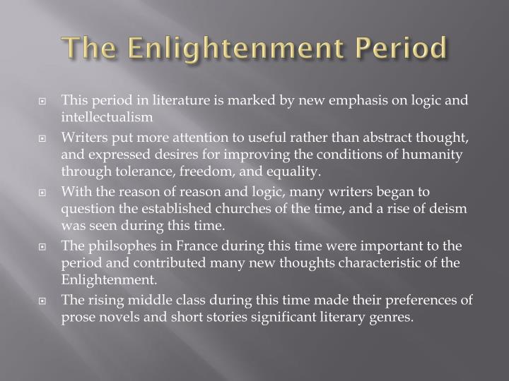 The Enlightenment Period