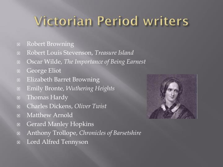 Victorian Period writers