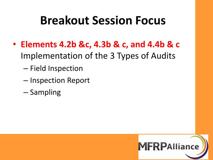 Breakout Session Focus