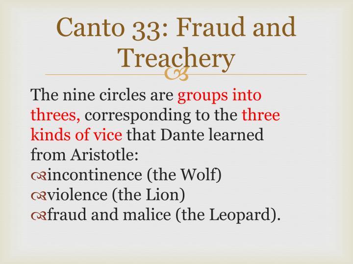 Canto 33: Fraud and Treachery