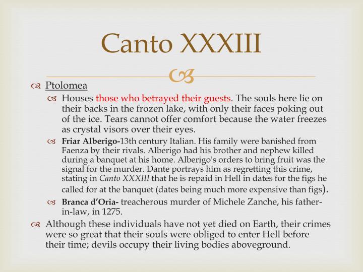 Canto XXXIII