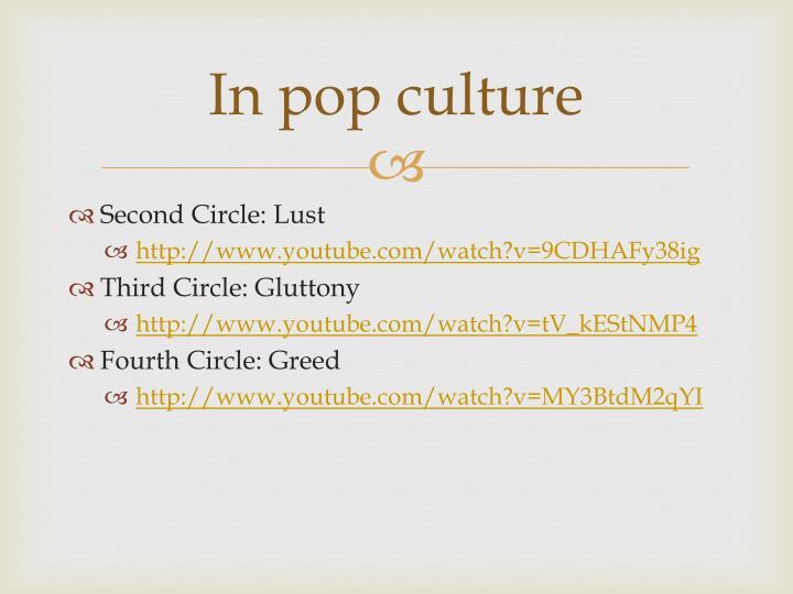 In pop culture